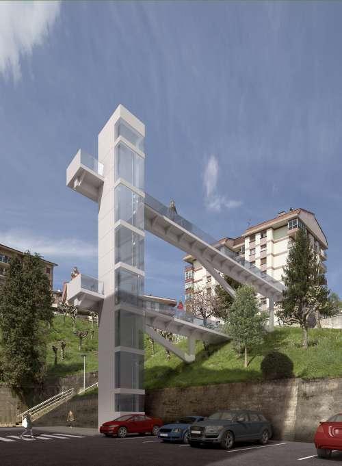 PASARELA EN EL BARRIO FLOREAGA. AZKOITIA - Alberdi Ingeniería - Ingeniería de proyectos y estructuras